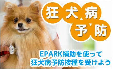 EPARK会員様限定!口コミ投稿を条件に狂犬病予防接種にかかる費用の一部をEPARKが補助