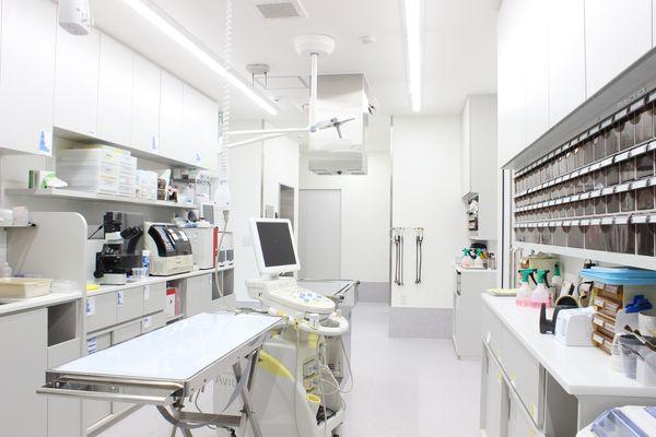 診察室奥の処置室