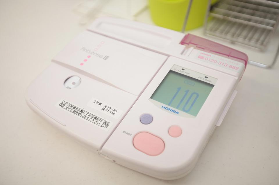 検査の際使用する機器です。