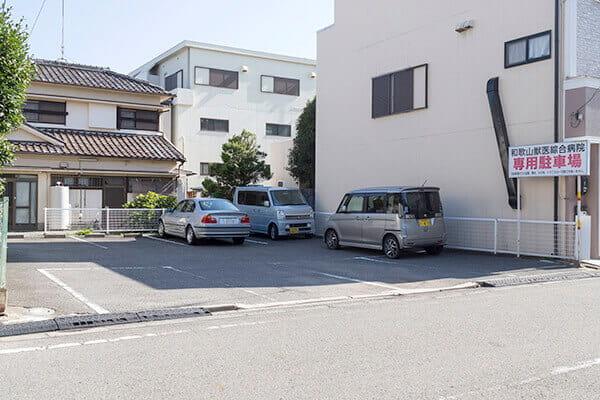 専用駐車場が10台分あります